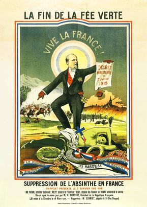 Absinthe Prohibition Poster France 1915 Gantner